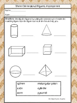Three Dimensional Figures Quiz