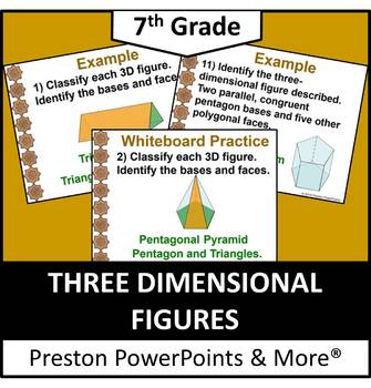 (7th) Three-Dimensional Figures in a PowerPoint Presentation