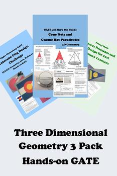 Three Dimensional Geometry 3 Pack for GATE and Middle School 33% Discount