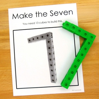 Three Dimensional Numeral Posters for Building with Interlocking Cubes