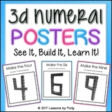 Three Dimensional Numeral Posters for Building with Interl