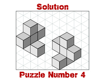 Three Dimensional Puzzles Using Snap Cubes and Isometric Drawings