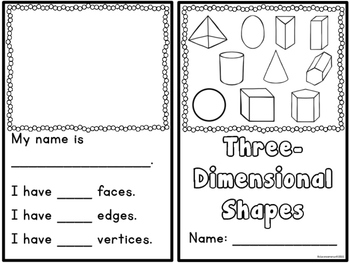 Three-Dimensional Shape Booklet