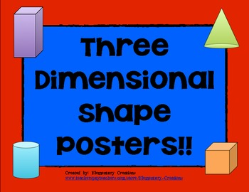 Three Dimensional Shape Posters
