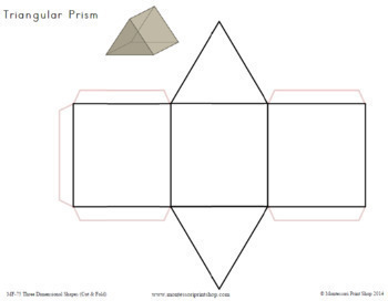Three Dimensional Shapes: Cut & Fold