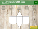 Three Dimensional Shapes: Cut & Fold