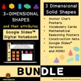 Three Dimensional Shapes Digital Notebook & Posters Bundle