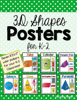 Three Dimensional Shapes Posters