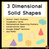 Three Dimensional Shapes Posters with Google Slides Versio