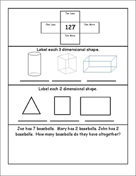 Three-Dimensional Shapes Practice