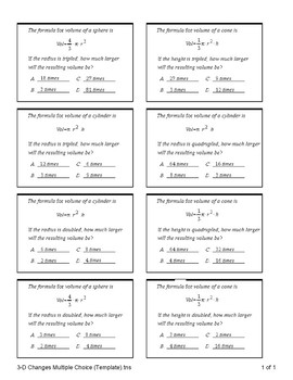 Three Dimensional Shapes (Quiz)