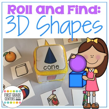Three Dimensional Shapes Roll and Find