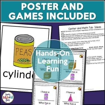 Geometry - Kindergarten Complete Unit - Hands On Activities, Lessons, Printables