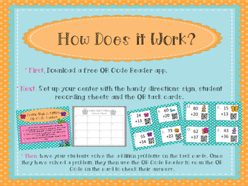 Three Double-Digit Addition QR Code Centers