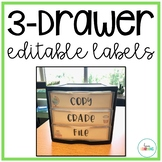Three Drawer Editable Labels