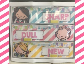 Three Drawer Organizer Label-Editable and Pre-Made Options