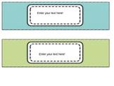 Three Drawer Organizer Labels EDITABLE
