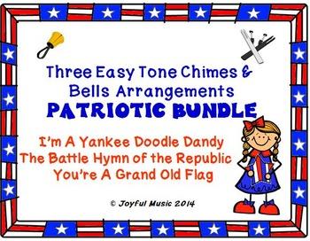 Three Easy Chimes & Bells Arrangements PATRIOTIC BUNDLE