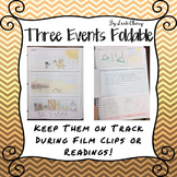 Three Events Foldable for Film Clips and Short Readings