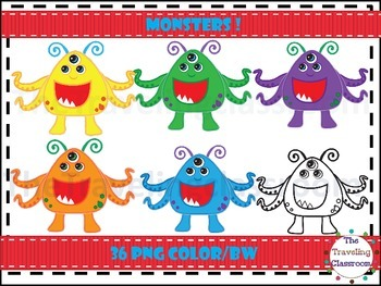 Three Eyed Monster Clip Art