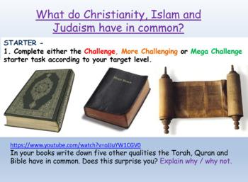 Three Faiths, One God: Islam, Christianity, Judaism