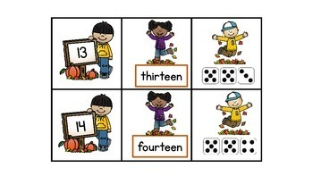 Three Fall Games for Teen Numbers and Composing and Decomposing 5 and 10