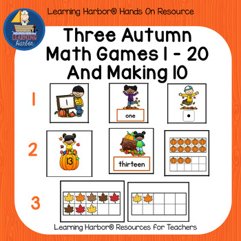 Three Fall Games for Teen Numbers and Composing and Decomposing 10