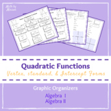 Three Forms of Quadratic Functions Graphic Organizers