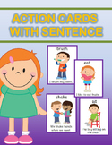 Action Cards with Sentence