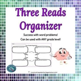 Three Reads Graphic Organizer