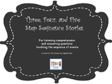Three, Four, and Five Step Sequence Stories