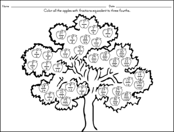 Three Fourths Fraction Tree