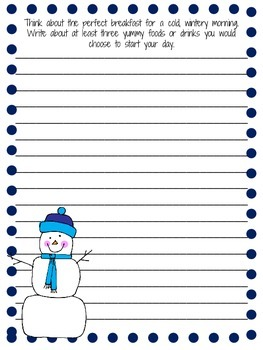 Three Free Winter Writing Prompts