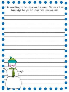 Three Free Winter Writing Prompts