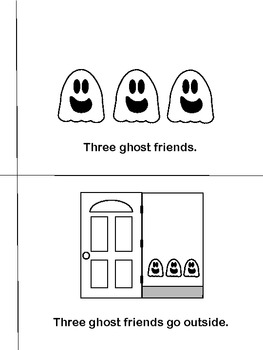 Three Ghost Friends: Learn About Counting - Level D Guided Reading