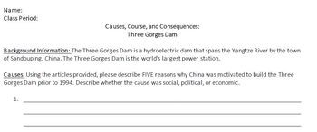 Three Gorges Dam Activity: Causes, Course, and Consequences