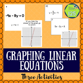 Graphing Linear Equations Activities