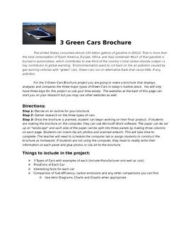 Three Green Cars Brochure
