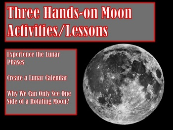 Three HANDS-ON Moon Activities/Lessons