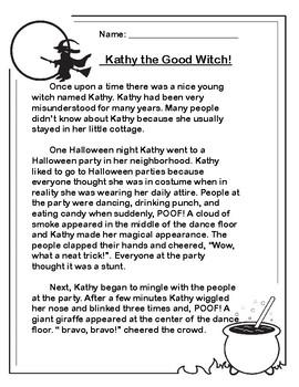 Three Halloween Reading Comprehension Passages!