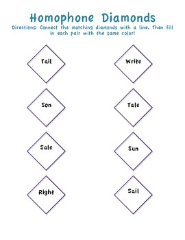 Three Homophones Worksheets For Elementary Students!