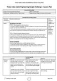 Three Index Cards Engineering Design Challenge (Challenge #2)