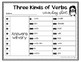 Three Kinds of Verbs Grammar Task Cards, Games, and Centers
