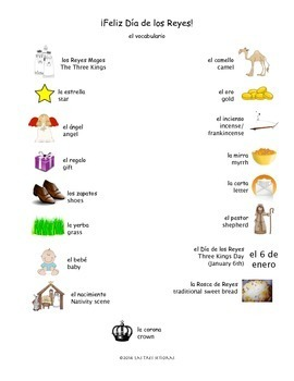 Three Kings Day/Dia de los Reyes Activity Packet