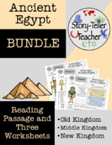 Three Kingdoms of Egypt (Old, Middle, New) Passage and Wor