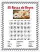 Three Kings Cake -Cultural Unit & Questions -Word Search-Reyes Magos