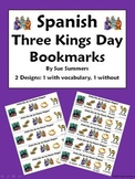 Spanish Three Kings Day Bookmarks - With & Without Vocabulary Words