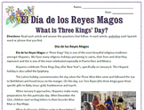 Three Kings' Day / El Día de los Reyes Magos: Reading & Substitute Plan