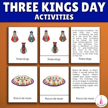 Three Kings Day Montessori Activities