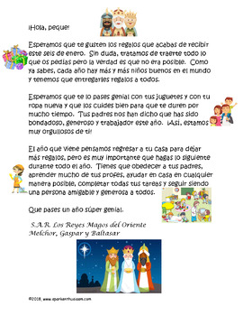 Three Kings' Day Cultural Activities, Letters, & Videos Bundle Spanish & English
